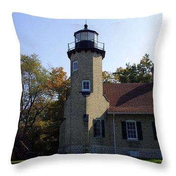 White River Light Station Throw Pillow