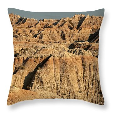 White River Valley Overlook Badlands National Park Throw Pillow