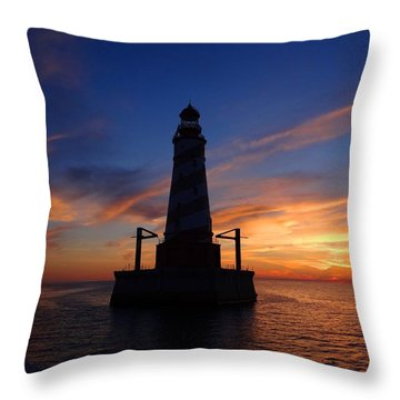 White Shoal Light Throw Pillow
