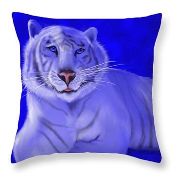 White Throw Pillow by William  Paul Marlette
