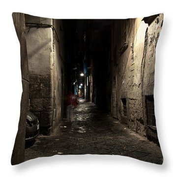 Who Goes There Throw Pillow by Marion Galt
