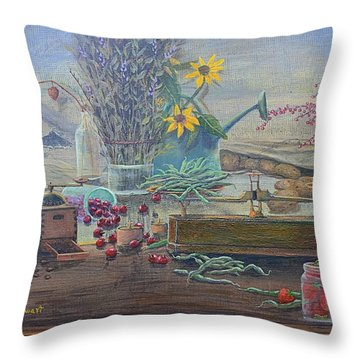 Who Spilled The Beans? Throw Pillow