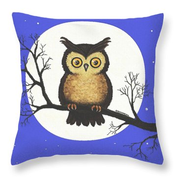 Whooo You Lookin' At Throw Pillow by Sophia Schmierer