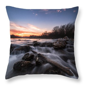 Wild River Throw Pillow by Davorin Mance