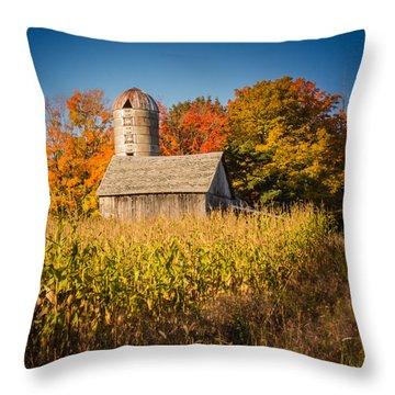 Wildwood Farm In Fall Throw Pillow