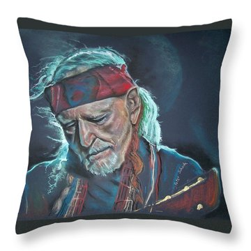 Willie Throw Pillow by Peter Suhocke