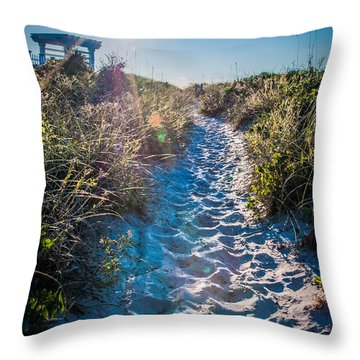 Wilmington Coastal Scene Wilmington North Carolina Throw Pillow