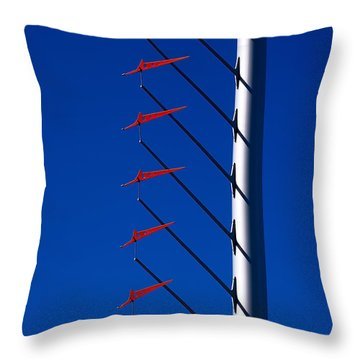 Wind Arrows Throw Pillow by Rona Black
