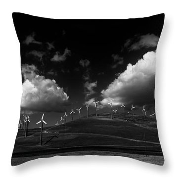Windmill Electric Power Station Throw Pillow