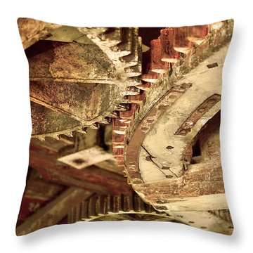 Windmill Wheels Throw Pillow by Tommytechno Sweden