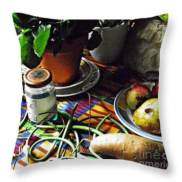 Window Table In Harlem Throw Pillow by Sarah Loft