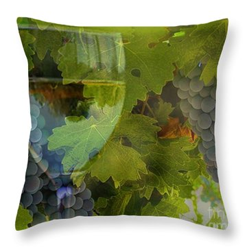 Wine Throw Pillow by Stephanie Laird