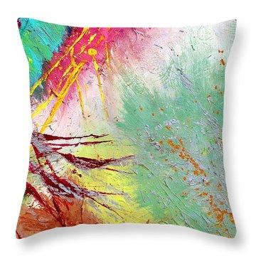 Modern Abstract Diptych Part 2 Throw Pillow