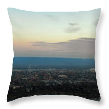 Winona Sunrise Panorama Throw Pillow