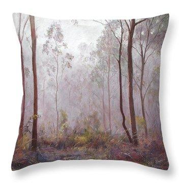 Winter At Wickham Throw Pillow by Lynda Robinson
