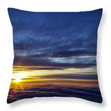 Throw Pillow featuring the photograph Winter Dawn Over New England by Greg Reed
