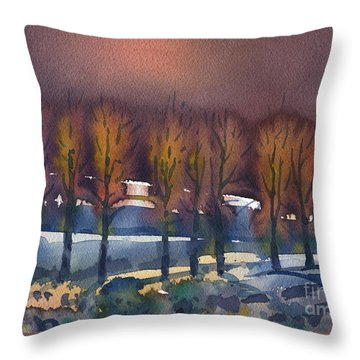 Throw Pillow featuring the painting Winter Fantasy by Donald Maier