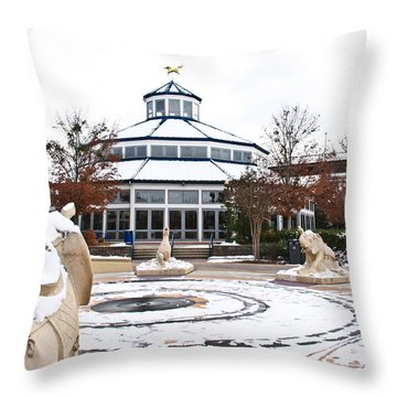 Winter In Coolidge Park Throw Pillow