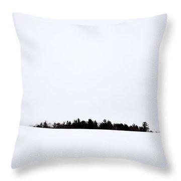 Winter Minimalism Throw Pillow by Edward Fielding