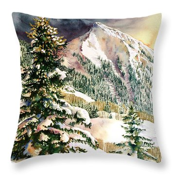 Winter Morning Prism Throw Pillow