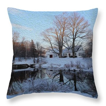 Winter Reflection Throw Pillow by Jewels Blake Hamrick