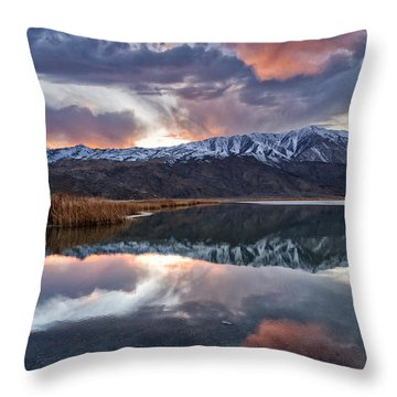 Winter Sunset Throw Pillow by Cat Connor