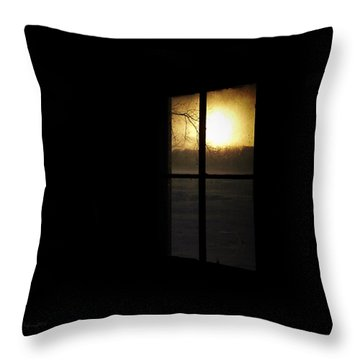 Winter Sunset Throw Pillow by Cynthia Lassiter