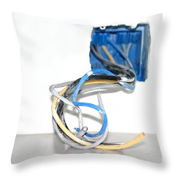 Throw Pillow featuring the photograph Wire Box by Henrik Lehnerer