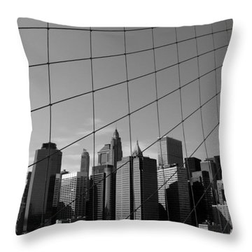 Wired City Throw Pillow