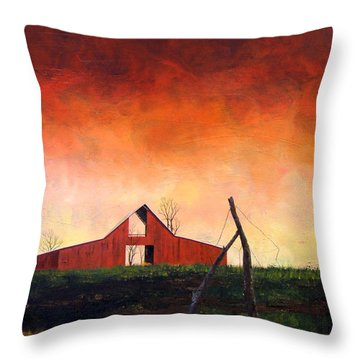 Throw Pillow featuring the painting Wired Down by William Renzulli