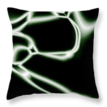 Wires Throw Pillow by Christopher Gaston