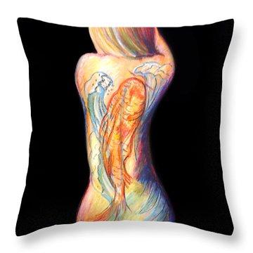 The Koi Tattoo Throw Pillow