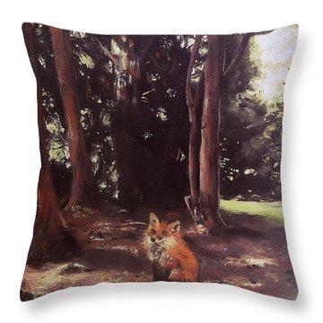 Woodland Fox Throw Pillow
