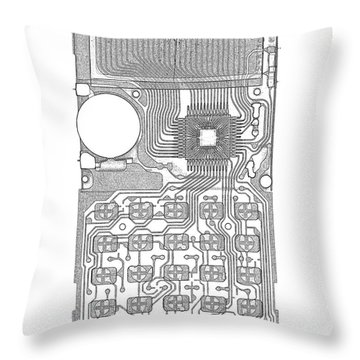 X-ray Of Calculator Throw Pillow by Bert Myers