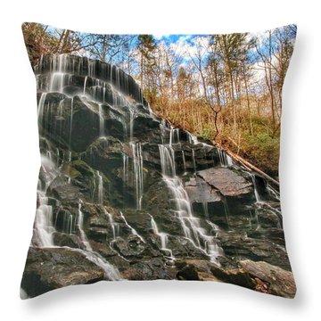 Yellow Branch Falls Throw Pillow