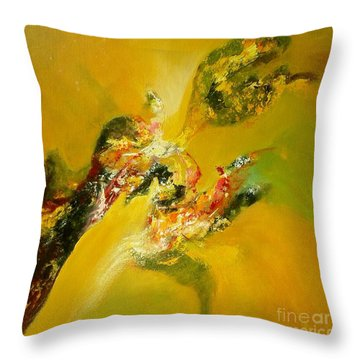 Yellow  Harmony Throw Pillow