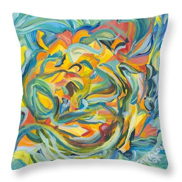 Yellow Pepper Woman Throw Pillow