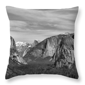 Yosemite Throw Pillow by David Gleeson