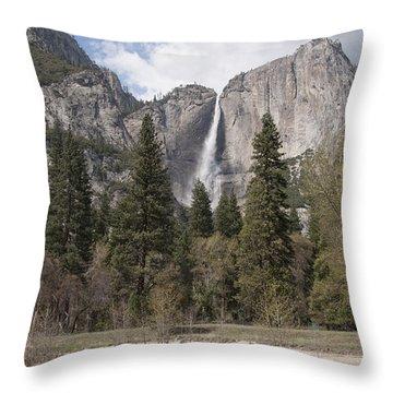 Yosemite National Park Throw Pillow by Juli Scalzi