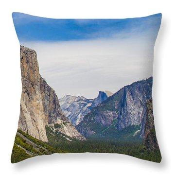 Yosemite Valley Throw Pillow by Brian Williamson