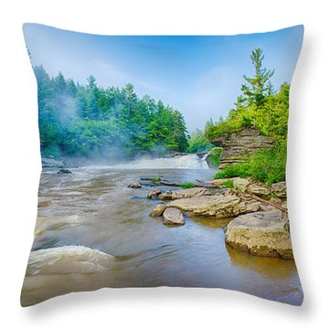 Youghiogheny River A Wild And Scenic Throw Pillow