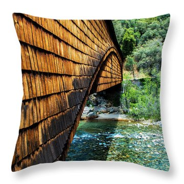 Yuba River State Park Throw Pillow