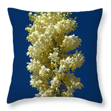 Yucca In Bloom Throw Pillow