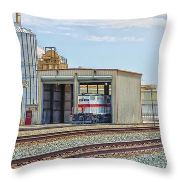 Foster Farms Locomotives Throw Pillow