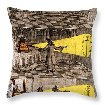 Zahn Light Projection Apparatus 1685 Throw Pillow by Science Source