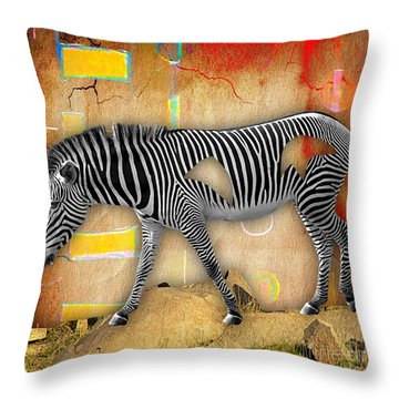 Zebra Collection Throw Pillow