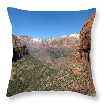 Zion Canyon Overlook Throw Pillow