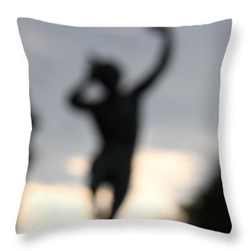 Throw Pillow featuring the digital art Out Of His Grief, Delight And Rage. by Danica Radman