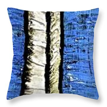 Throw Pillow featuring the painting 10-001 by Mario Perron