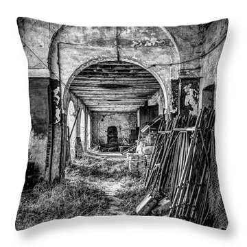 Abandoned Villa Throw Pillow